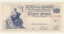 BILLET # ARGENTINE  # 1951  # 5 PESOS  # CINCO PESOS # N°260  # - Argentina