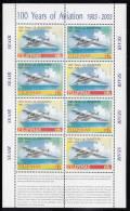 Philippines MNH Scott #2888E Souvenir Sheet Of 4 Pairs 6p D024TT On Yellow, Green Backgrounds - Cent. Of Powered Flight - Philippines