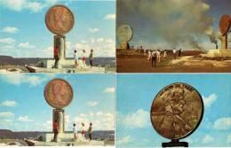 """4 CP - Avec Monuments """"pièce De Monnaie"""" Ontario - Canada      (54495) - Monnaies (représentations)"""