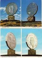 """2 CP - Avec Monuments """"pièce De Monnaie"""" Ontario - Canada      (54497) - Monnaies (représentations)"""