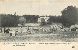 GUERRE DE 1914  MATERIEL DE BOULANGERIE ABANDONNE A BETZ PAR LES ALLEMANDS  SCANS RECTO VERSO - Oorlog 1914-18