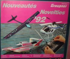 Catalogue NouveautésGRAUPNER 1992.83 Pages.Francais Et Anglais - Littérature & DVD