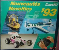 Catalogue NouveautésGRAUPNER 1993.99 Pages.Francais Et Anglais - Littérature & DVD