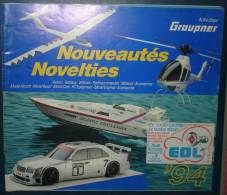 Catalogue NouveautésGRAUPNER 1994.83 Pages.Francais Et Anglais - Littérature & DVD