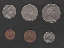 AUSTRALIA - Lotto Di 6 Monete 1c.+2c.+5c.+10c.+20c.+50c. - Collezioni