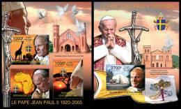 CENTRAL AFRICA 2011 - Pope John Paul II. M/S + S/S - Mi 3160-2 + B748 - Centraal-Afrikaanse Republiek