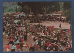 PERU - CP MERCADO TIPICO DE PISAC / COLORFUL SUNDAY MARKET IN PISAC - CUSCO PERU - 1978 ? - Perú
