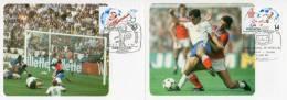 """ESPAGNE 1982 2 CM """" COUPE DU MONDE DE FOOTBALL ESPANA'82 """". N° YT 2288 2289. Parfait état + Prix Dégressif ! - Maximum Kaarten"""