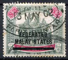 FEDERATED MALAY STATES 1900 Wmk CC - Sc.12 (Mi.12, Yv.12) Used (perfect) VF - Federated Malay States