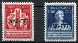 TRIESTE 1949 Volta -  Mi.76-77 (Sc.53-54) MNH (postfrisch) Perfect (VF) - 7. Trieste