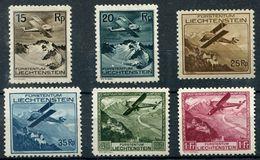 LIECHTENSTEIN 1930 - Mi.108-113 (Sc.C1-6, Yv.PA1-6) MNH (all VF) Perfect - Poste Aérienne
