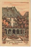 CPSM PARIS 14° ARRONDISSEMENT - Maternité, Cloitre Ancienne Abbaye De Port Royal : 5° Congrès International Hopitaux - Arrondissement: 14