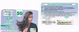 OMNITEL ITALIA - C&C (7^ ED.) 1223 - MEGAN  CAPELLI AL VENTO  OCR ALFANUMERICO G + 6 CIFRE (VEDI DESCRIZIONE) - USATA - Schede GSM, Prepagate & Ricariche