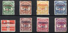 SAMOA 1899 Provisional Govt. Compl. Set - Sc.31-38 (Mi.27-34, Yv.28-35) MH - Samoa