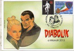 BD FDK 238 Diabolik Fumetti Noir Timbre Oblit Milanofil  2013 Comics Strip Annullo Matasellos Poststempel EMA Specimen - Diabolik