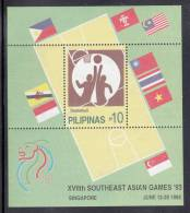 Philippines MNH Scott #2243 Souvenir Sheet 10p Basketball - 17th South East Asian Games - Philippines