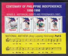 Philippines MNH Scott #2235 Souvenir Sheet Of 4 4p Historical Events And People 1897 - Philippines
