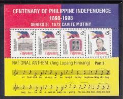 Philippines MNH Scott #2233 Souvenir Sheet Of 4 1872 Cavite Mutiny - Philippines