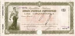 BUONO POSTALE FRUTTIFERO /  LIRE 50.000 - Sovrastampato Serie P/O - Frazionario 43/194  _ Annullato - Azioni & Titoli