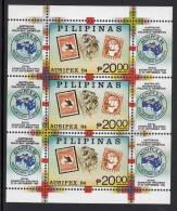 Philippines MNH Scott #1710 Souvenir Sheet Of 3 20p Philippines #1, Australia #59, Koalas - AUSIPEX 84 - Philippines
