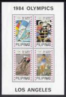 Philippines MNH Scott #1705 Souvenir Sheet Of 4 6p Windsurfing, Boxing, Cycling, Athletics - 1984 Summer Olympics - Philippines