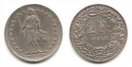 Lot Pièce 2 Francs Suisse Argent 1944 Silver Silber - Suiza