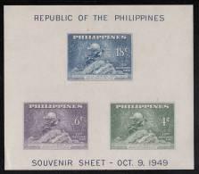 Philippines MH Scott #534 Imperf Souvenir Sheet Of 3 UPU Monument, Bern - 75th Anniversary Of UPU - Philippines