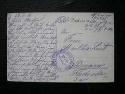 Cachet Landsturm Infanterie Bataillon SIEGEN - Sur CP SCHIRMECK - 1916 - Guerra De 1914-18
