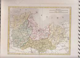 CARTE GEOGRAPHIQUE SUR CARTON 29 X 23.5 CM COTES ARMOR COUCHE FILS HACQ - Geographical Maps