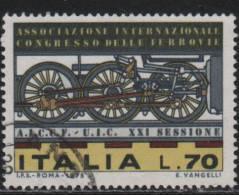 20428 Italia 1975 Congresso Delle Ferrovie £ 70 Usato - 1971-80: Usati