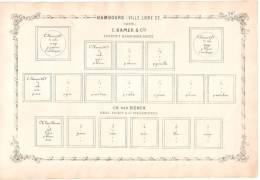 RARITY POSTAGE STAMP BEFORE 1862 -  Ville Libre D´Hambourg Suite C. Hamer & Cie - Albums & Reliures