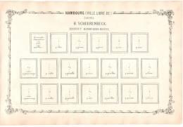 RARITY POSTAGE STAMP BEFORE 1862 -  Ville Libre D´Hambourg Suite De Sheerenbeck - Albums & Reliures