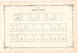 RARITY POSTAGE STAMP BEFORE 1862 -  Ville Libre D´Hambourg Suite Hamonia. W. Krantz. - Albums & Reliures