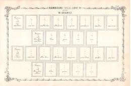 RARITY POSTAGE STAMP BEFORE 1862 -  Ville Libre D´Hambourg Suite W. Krantz. - Albums & Reliures