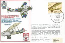 JUNE 1977. COMMEMORATIVE COVER EXCHANGE OF AIROPLANES  BETWEEN HENDON -KRAKOW - Airmail
