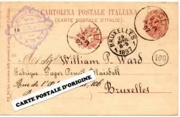 1897 - CAGLI (ITALIE) - CARTE POSTALE SANS ILLUSTRATION - GIOVANNI TORNARI - Italia