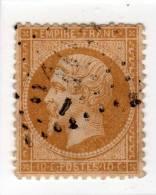 YT 21 - Napoléon 10c Bistre - Variété Parasite - GC 2103 Loury - 1862 Napoléon III