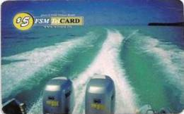 MICRONESIA - Remote Memory 5$ Card , A Yacht In The Sea, Used - Micronesië