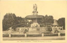 13 - AIX-en-PROVENCE - Fontaine Monumentale De La Rotonde (Ed. La Cigogne, 455) - Aix En Provence