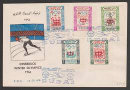Dubai,United Arab Emirates,1964Winter Olympic Games,5 Stamps ND. ,S.G No.89/93,FDC.(12) - Dubai