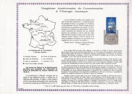 """Feuillet PAC De 1965 : """" 20 ANS DU C.E.A. """". N° YT 1462 TB état + Prix Dégressif !"""
