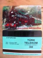 Magnetic Phone Card From Turkey, Train, - Turkey