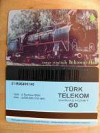 Magnetic Phone Card From Turkey, Train, - Türkei