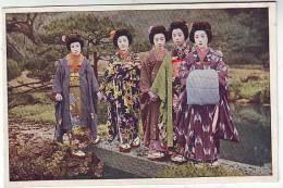 CPA    JAPAN JAPON   Groupe Femmes  Geisha - Japon