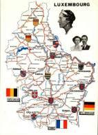 CPSM Glacée - Luxembourg  -  Géographique Avec Blasons - - Dudelange