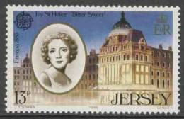 Jersey 1985 Mi 348 YT 342 ** Ivy St. Helier (1886-1971) Actress + His Majesty's Theatre, London/ Sängerin,Schauspielerin - Acteurs
