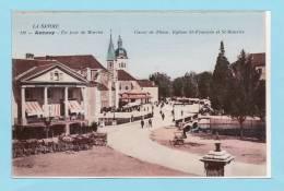 74 ANNECY - Un Jour De Marché  - Hôtel Bellevue + Animation  ( TBE ) - Annecy