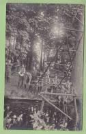 CHAMARANDE, Années 1920 : Patrouille Des Coqs, Traversée D'une Rivière. CARTE PHOTO, Scouts De France. 2 Scans - Scoutisme