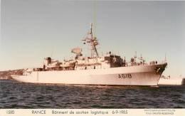 RANCE  BSL  BATIMENT DE SOUTIEN LOGISTIQUE  6/9/1985  MARIUS BAR N°1580 - Oorlog