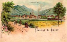 SOUVENIR De THANN - CARTE POSTALE LITHOGRAPHIÉE - PRÉCURSEUR / FORERUNNER ~ 1899 (n-839)